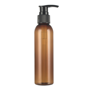 30pcs 150ml Brown cosmetic PET bottles, empty shampoo lotion pump container plastic cosmetic packaging with dispenser shower gel
