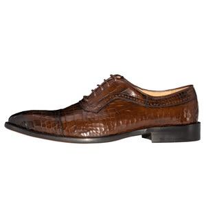 Image 5 - Chaussures Oxfords en cuir véritable pour hommes, souliers de mariage en cuir véritable, couleur café foncé, marque de luxe, bureau, à la mode, à bout pointu