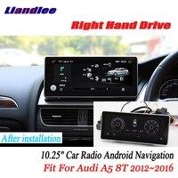 Liandlee для Audi A5 8 т 2012 ~ 2016 правым android автомобильный радио gps Navi Карты Камера OBD ТВ Экран Media без cd dvd