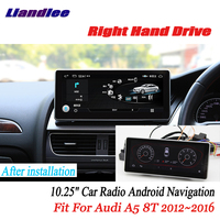 Liandlee For Audi A5 8T 2012~2016 Right hand drive Android Car Radio Player GPS Navi Maps Camera OBD TV Screen Media no cd dvd