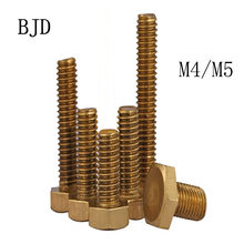 20PCS M4/M5*6/8/10/12/16/2025/30/35-50mm Copper Hexagon Socket Bolts copper outer six angle bolt copper outside six angle screw(China)