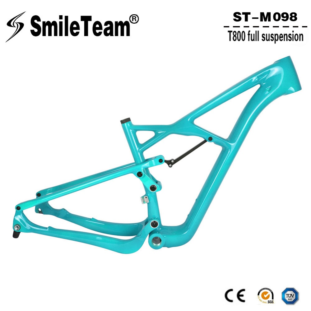 Smileteam 29er Full Suspension Carbon MTB Frame 29er Full Suspension Mountain Bike Frame 142*12 Thru Axle Bicycle Frame стоимость