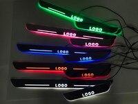 Osmrk LED moving door scuff plate Nerf Bars & Running Boards door sill light overlays for volkswagen golf 5 variant 2006 2010