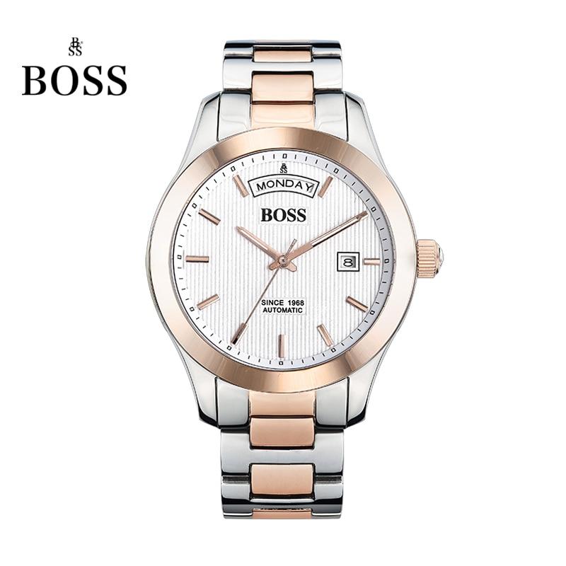 BOSS Germany watches font b men b font luxury brand daydate Chopin series strip automatic mechanical