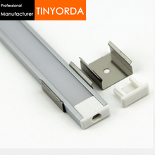 Tinyorda 500Pcs (2M Length) Led Aluminum Profile  Channel Profil for 11mm LED Strip Light [Professional Manufacturer]TAB1606