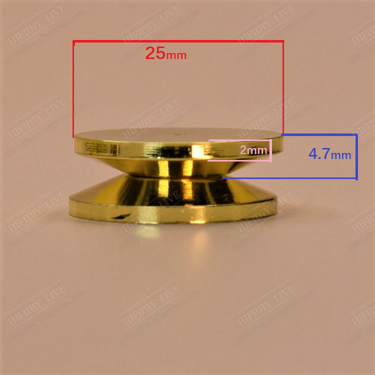 HI-FI DIY LIVE 1~8PC Pure Copper Gold Loudspeaker Box Cone Based On The Floor Speakers Stand Feet Foot Pad M11*21