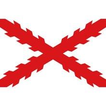 3x5 футов флаг Креста Бургундия 90*150 см 60*90 см полиэстер высокого качества баннеры Испанская империя