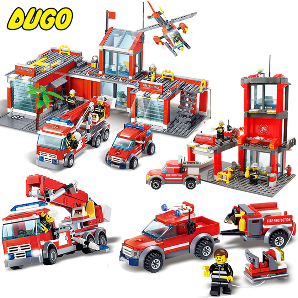 5 Unit Firefighter Police Station Model Building Blocks Toys Compatible Legos City Police Figures Toy Hobbies For Children Gift tinyville town i m a firefighter