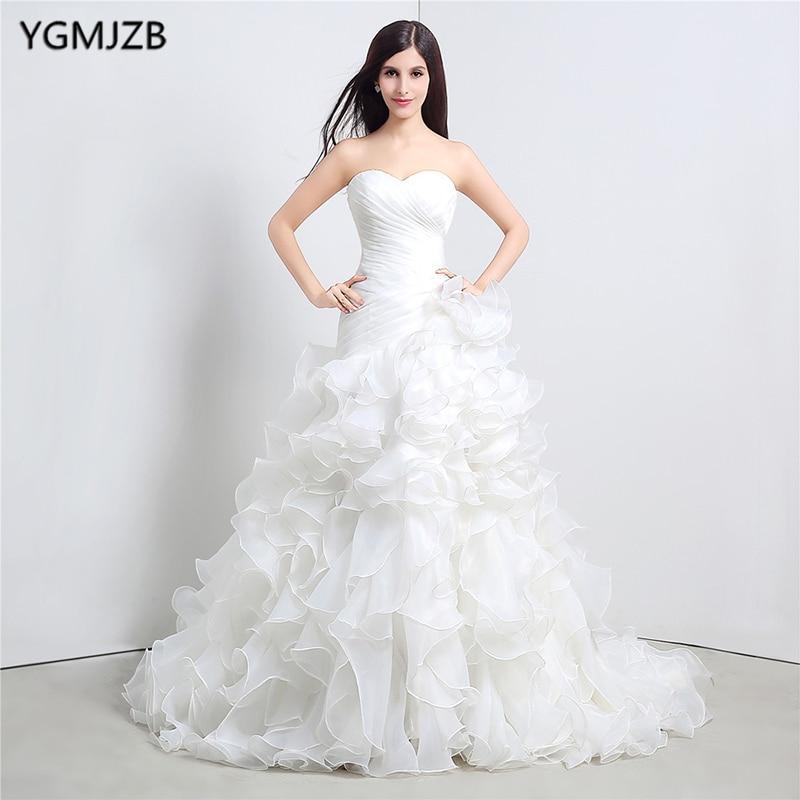 Vestido De Noiva White Mermaid Vestuvinės Suknelės 2017 Sweetheart - Vestuvių suknelės