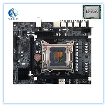 X79 with E5-2620 CPU set LGA 2011  DDR3 New motherboard  support ECC RAM mainboard M ATX desktop motherboard