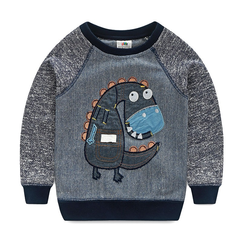 LittleSpring Little Boys Sweatshirts Cotton Car Printed Tee