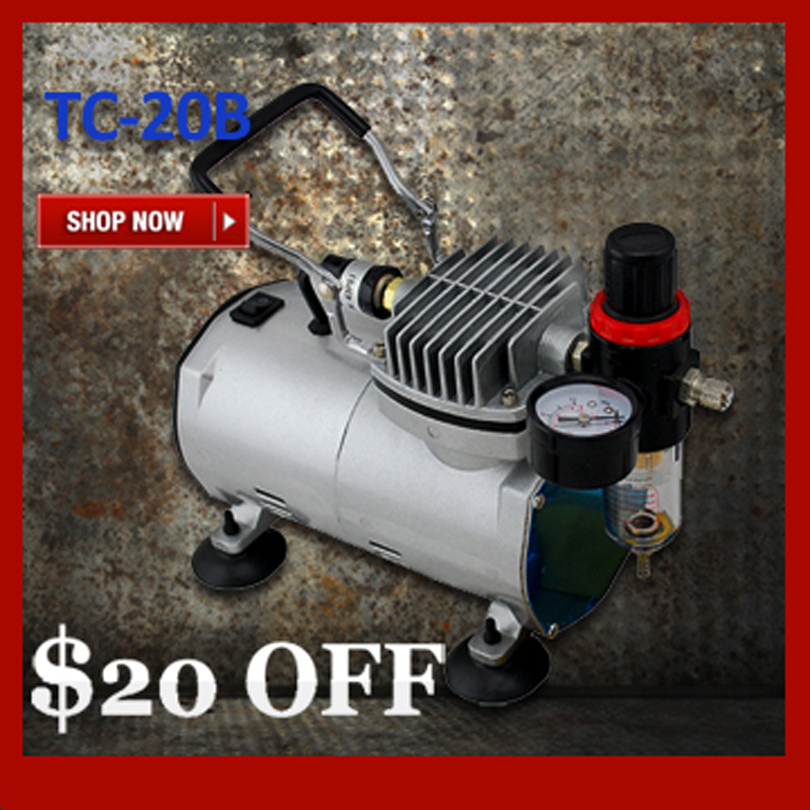 Mini Air Compressor TC-20B Portable Airbrush Compressor Body Paint Temporary Tattoo Nail Art