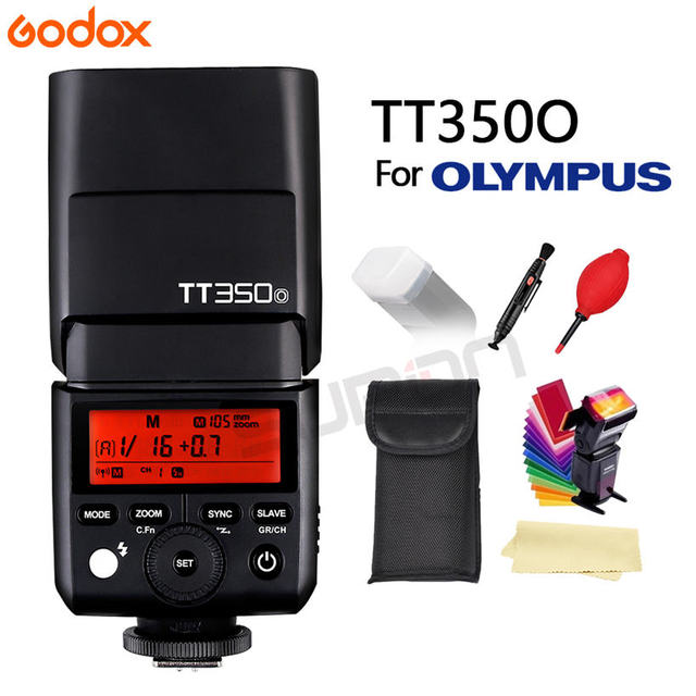 GODOX Flash TT350O Mini Flash Light 2.4G HSS TLL 1/8000SแฟลชSpeedliteสำหรับOlympusกล้องPanasonic Lumix + ของขวัญ
