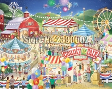 5d Diy Diamond Painting Summer 4th of July Circus & Carnival Cross Stitch Embroidery County Fair Full Mosaic Home Decor
