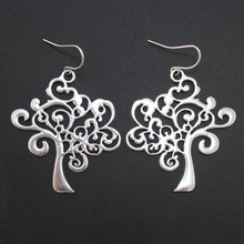 Women Fashion Accessories Silver Tone Leaves Dangle Earring Gift for Girl's Wholesale DY263