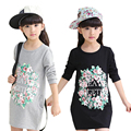 Girls T-Shirts Spring Long Length Brand Children Clothing Pullover Kid Shirt Girl Cotton Casual Teenage Girl Clothes 6-14 DIDIOO