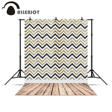 Allenjoy Photo background Chevron lines modern wood floor professional camera chrismas gifts for kids