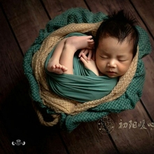 2017 New Newborn Posing Knit Wraps Fabric Newborn Photography Props Baby BlanketCotton Soft Photo Wrap Cloth Accessories