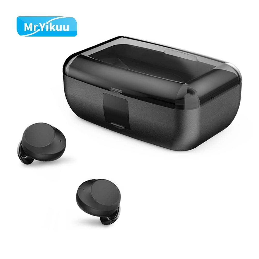 Bluetooth 5.0 Headphones IPX7 Deep Waterproof Wireless Headphones Earbuds with 3000mAh Power Bank charge Box For Most Smartphone-in Bluetooth Earphones & Headphones from Consumer Electronics    1