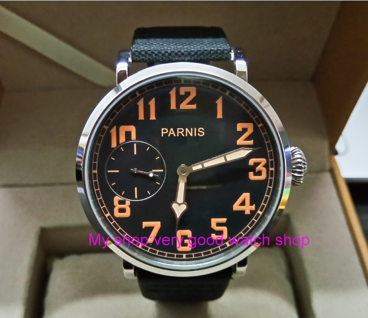 46mm parnis Black dial Asian 6497 17 jewels Mechanical Hand Wind movement men watch luminous Mechanical watches zdgd191a46mm parnis Black dial Asian 6497 17 jewels Mechanical Hand Wind movement men watch luminous Mechanical watches zdgd191a