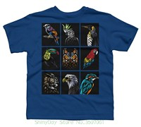 Hip Hop Novelty T Shirts Men S Brand Clothing Tribal Birds Boy S Youth Graphic T