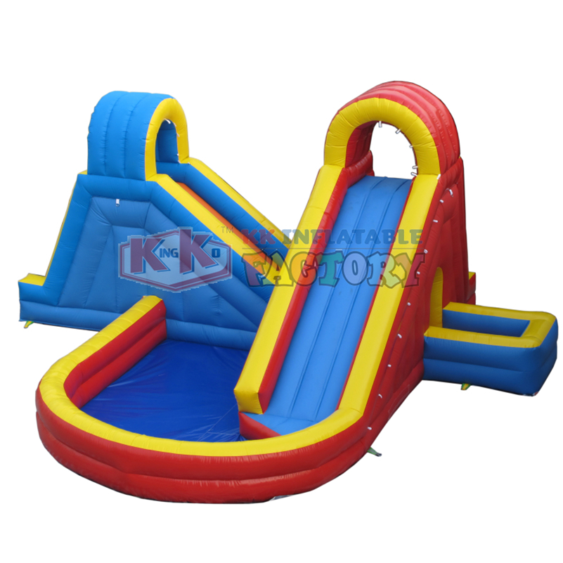 Family Small Inflatable Water Slide Rear Garden Small Water Park Durable And Wearable
