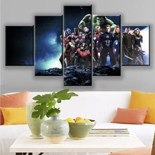 Movie Avengers 4 Endgame Arts Poster 5 Pcs Print Canvas Painting Home Decoration Modern Wall Art Pictures For Living Room