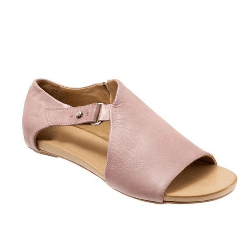 f11e9b7dce75 2019 New Women Sandals Flat Hook Loop Gladiator Summer Ladies Fashion Open  Toe Plus Size Rome Shoes Female Casual Peep Toe Style