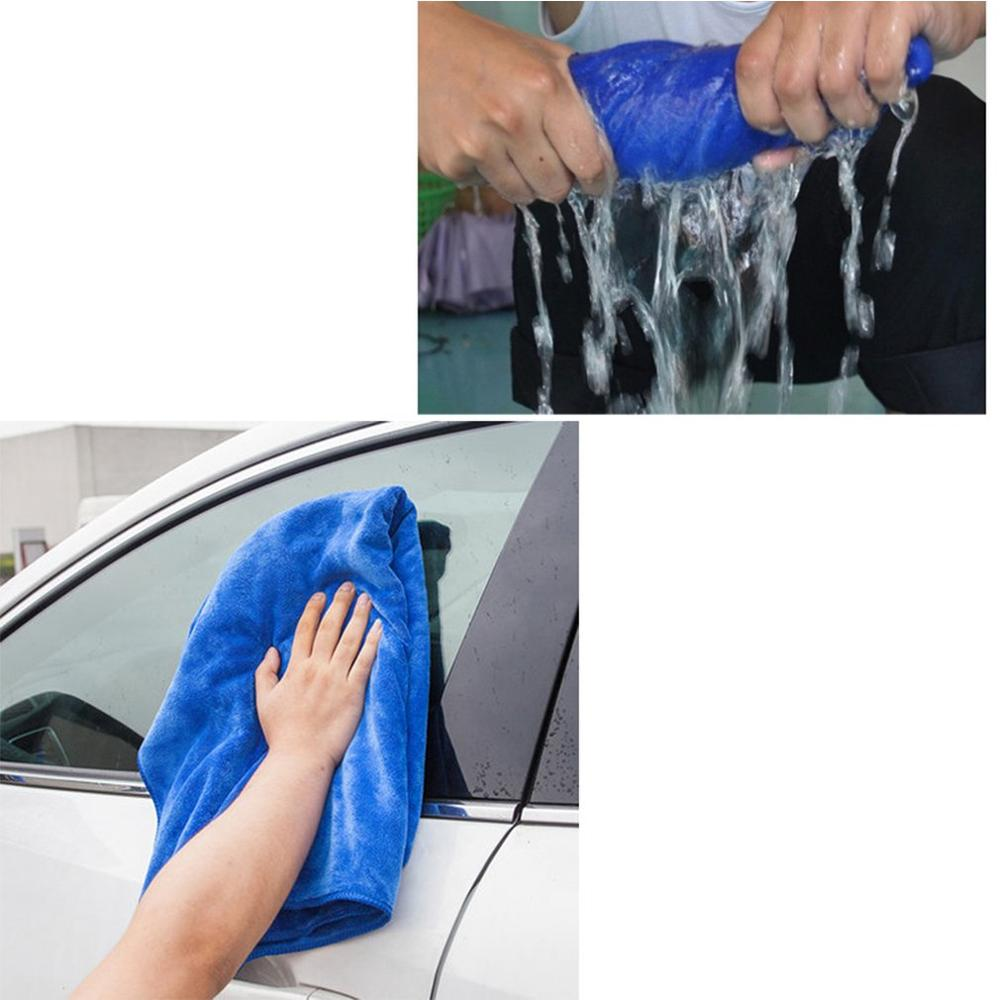 30*70cm Warp-knitted Towel Microfiber Car Wash Cleaning Car Towel Blue Soft(China)