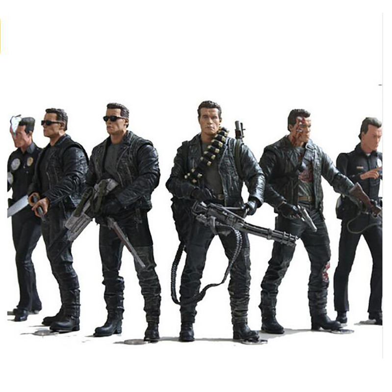 NECA The Terminator 2 Action Figure T-800 / T-1000 PVC Action Figure Toy Model Toy 7 Types 18cm free shipping neca the terminator 2 action figure t 800 t 800 steel mill pvc figure toy 718cm model toy zjz005