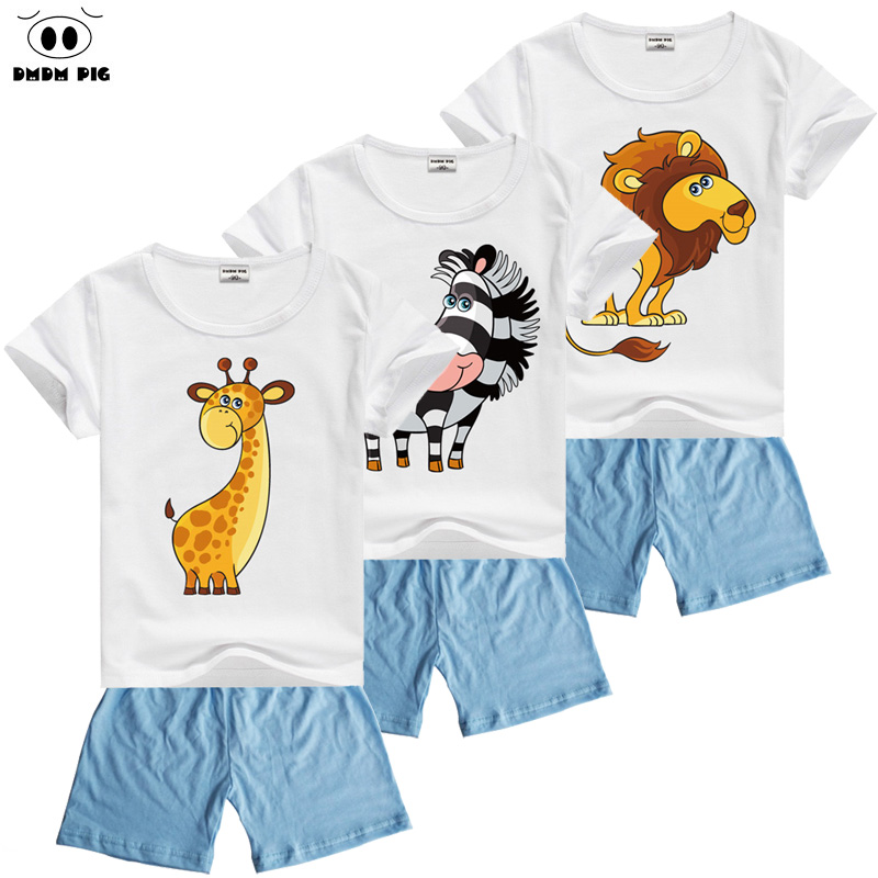 DMDM PIG Summer font b Baby b font Clothes For Boys Clothing Sets Costume For Girls