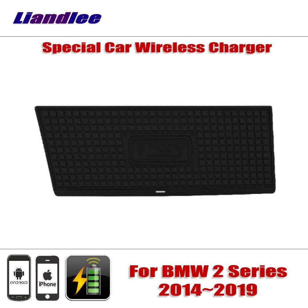 Liandlee pour BMW série 2 2014 ~ 2019 spécial caché voiture chargeur sans fil stockage pour IPhone Android Iphone chargeur de batterie