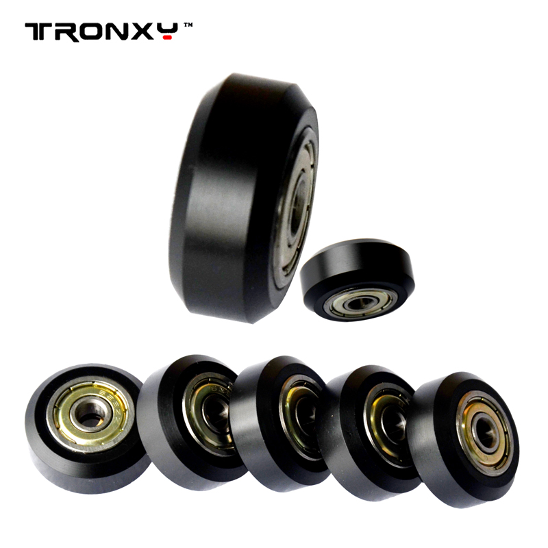 Tronxy 3D printer parts 2020 Euro Aluminium profile rail openbuilds D-type Wheel with NSK 625ZZ Bearing Passive Round Pulley tronxy acrylic p802 mts 3d printer