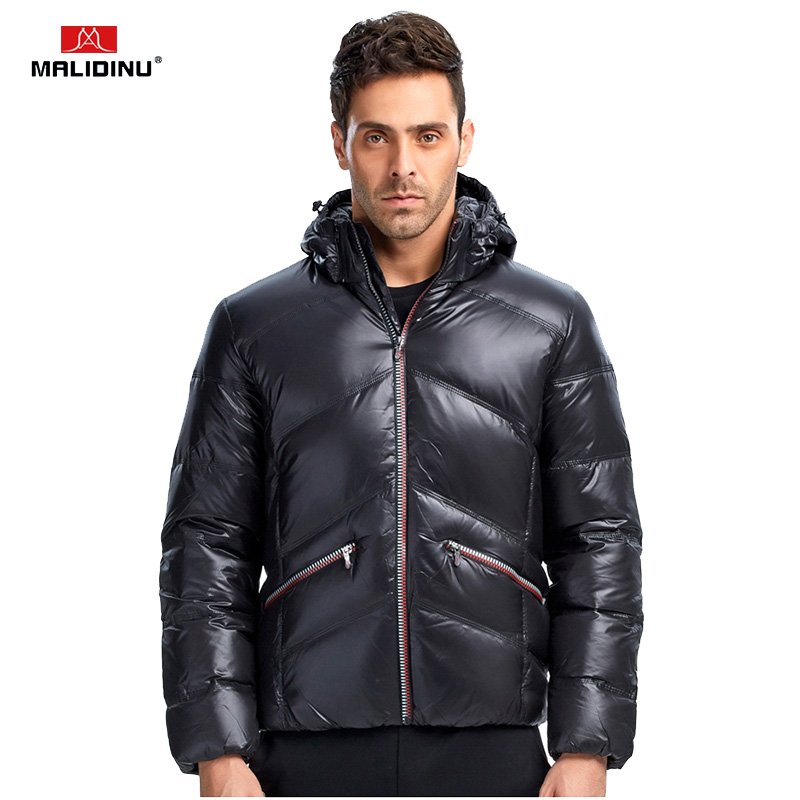 MALIDINU 2018 New Men   Down   Jacket Winter Jacket Men Thick Warm   Down     Coat   Brand 70%White Duck   Down   Outwear Men Fashions Jackets