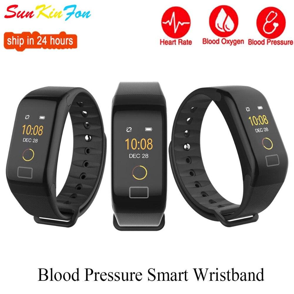 For Sony Google HTC LG Cubot BlackBerry Y6 Sports Smart Wristband Blood Pressure Heart Rate Fitness Tracker Smart Bracelet Band