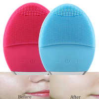 Skin care Ultrasonic Electric Facial Cleansing Brush Vibration Skin Remove Blackhead Pore Cleanser Silicone Face Massager USB