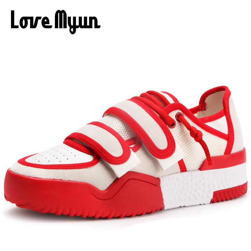 2018 new Spring fashion sneakers women breathable white shoes Flat Platform girls thick soled shoes student casual shoes SB-90 gogc 2018 new floral denim slipony women breathable shallow shoes footwear flat shoes women fashion sneakers women summer spring