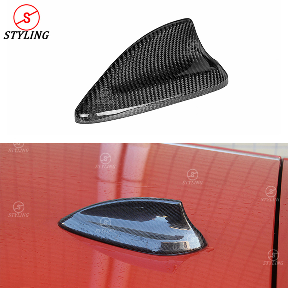 Antenna Cover-Antenna Shark Cover Car Carbon Fiber Antenna Shark Fin Cover Trim Compatible with BMW F20 F21 F48 F49 F45 F46