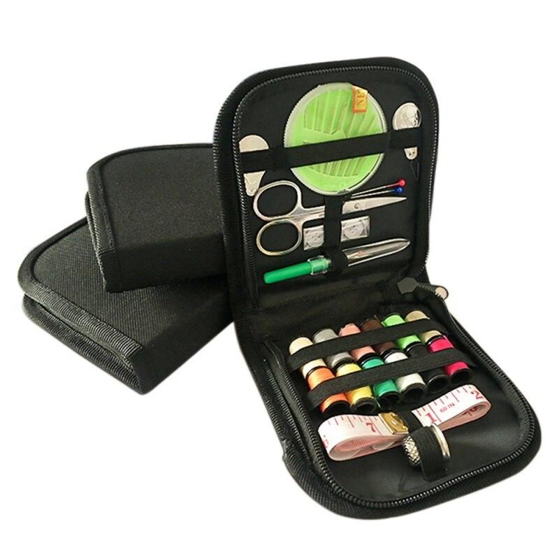 Mini caja de costura portátil para el hogar de viaje Kit de costura bolsas de almacenamiento de artículos varios herramientas organizadoras para el hogar