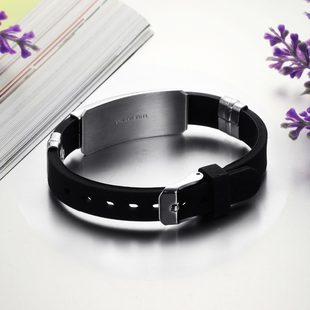 OPK-2016-New-Fashion-Jewelry-Silicone-Rubber-Silver-Slippy-Hollow-Strip-Grain-Stainless-Steel-Men-Bracelet (1)