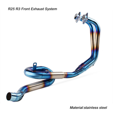 51mm Front Link Pipe Silp on for Yamaha R25 R3 Motorcycle Stainless Steel Exhaust Silencer System