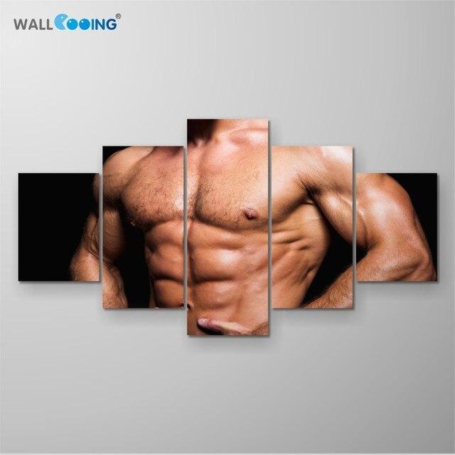 New decorative painting 5 Comic canvas print fitness sports pattern