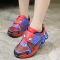 Nuevo hombre araña de la historieta infantil chicos deportes shoes sneakers para niños infantil chicos casual transpirable running shoes chaussure 26-37