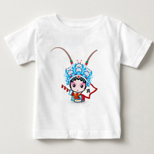 Chinese quintessence Peking Opera doll printed child T-shirt cute boy and girl summer short sleeved shirt MJ