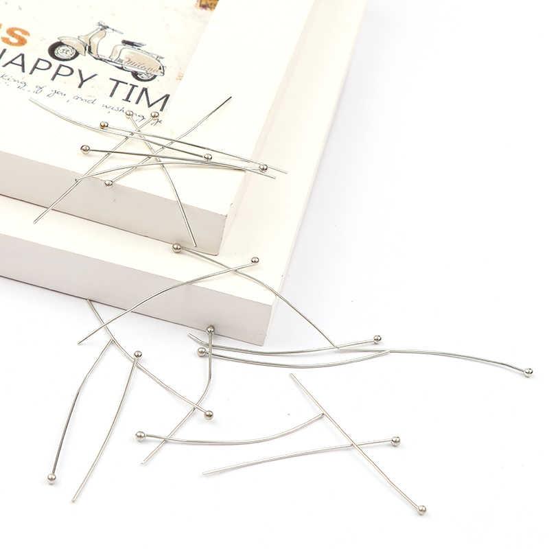 Fabryka mody tanie 15mm ~ 50mm głowica kulowa szpilki biały K kolor Ball głowy Pins ustalenia DIY biżuteria akcesoria do biżuterii