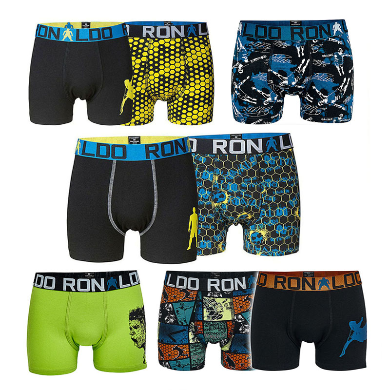 10Pcs Boys Cotton Boxers Football Super Star Kids Multipack Trunk Young Briefs Children Underwear Baby Shorts Teenage Pant Cloth