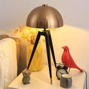Image 2 - Lámpara de pie de diseño posmoderno para el hogar, cabeza de seta galvanizada de Metal, para sala de estar, lámpara de noche para dormitorio