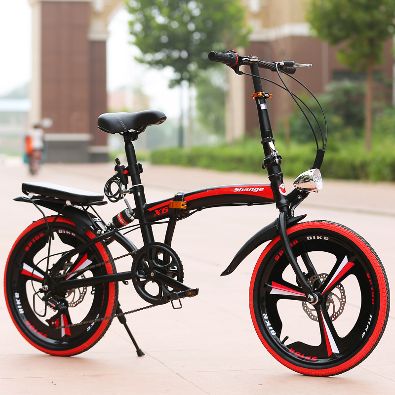 16-inch Folding Mountain Bike 21 Speed Mountain Bicycle Double Disc Brake Bike New Folding Mountain Bicycle Suitable For Adults