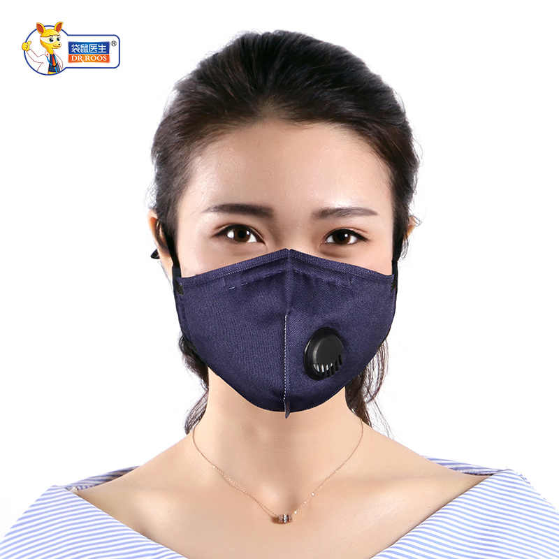 DR.ROOS 1 Pc/box Earloop PM2.5 Dust Protective Mouth Mask Polyester Cotton Windproof Anti-Dust Face Mask Repeated Use