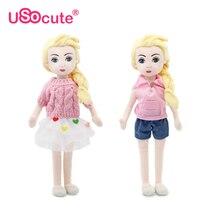 Mode plysch flickor dockor barn leksaker kawaii DIY tyg brinquedos hobbies för barn tjejer barn baby leksaker julklappar 36cm